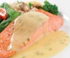 Recipe Salmon Fillet with Mushroom Cream Sauce by Thermomix in Australia - Recipe of category Main dishes - fish