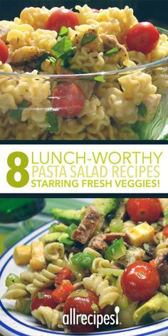 Get more fresh veggies into your lunch rotation with these simple make-ahead pasta salads.