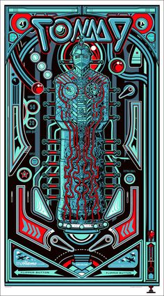 """The Who """"Tommy"""" Poster. Great integration of the notion of the Pinball Wizard / Messiah."""