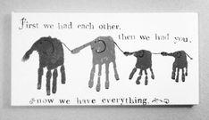 Family handprint art- frame with yellow border and cherry frame Family Crafts, Baby Crafts, Crafts To Do, Crafts For Kids, Footprint Crafts, Elephant Family, Handprint Art, Kids Hands, Hand Art
