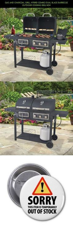 Gas and Charcoal Grill Hybrid Combo Dual Black barbecue outdoor cooking BBQ NEW #charcoal #camera #combo #racing #and #parts #fpv #drone #kit #gadgets #shopping #technology #tech #grills #plans #gas #products