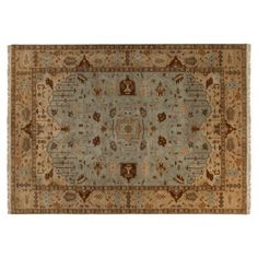 Check out this item at One Kings Lane! Adana Rug, Sky/Beige