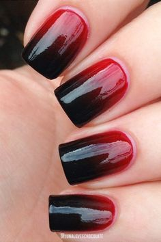 Blood Red Nails From Luna Loves Chocolate
