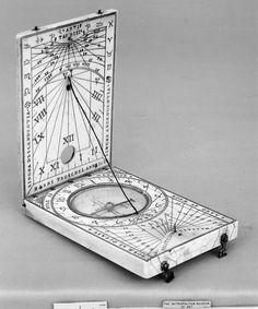 Hans Troschel the Younger (German, probably 1599-1634). Portable diptych sundial, 1620. The Metropolitan Museum of Art, New York. Gift of Mrs. Stephen D. Tucker, 1903 (03.21.53)