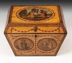 Tunbridge Ware Box (United Kingdom).c.1815.  #antique #vintage #box