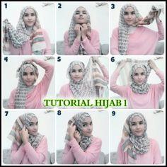 Tutorial Hijab By Mayra Hijab: Cara-Cara Berhijab Terbaru Untuk Wajah Bulat