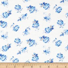 Michael Miller Blue & White Sheila Buds Azure from From Michael Miller, this cotton print fabric is perfect for quilting, apparel and home decor accents. Colors include shades of blue and white. Delft, Sheila, Michael Miller Fabric, Asian, Blue Roses, Fabric Online, Letters And Numbers, Cotton Quilts, Fabric Painting