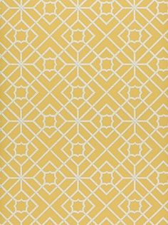 DecoratorsBest - Detail1 - Sch 5000383 - Luan Fretwork - Yellow - Wallpaper - DecoratorsBest