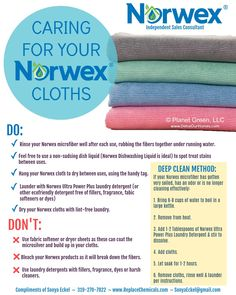 How to care for & use my Norwex