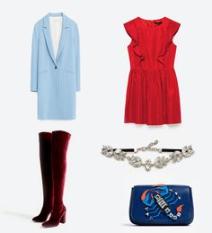 Coat: @zaraofficial  Dress: @zaraofficial Bag: @zaraofficial  Shoes: @zaraofficial  Accessory: @zaraofficial Zara, Coat, Polyvore, Dress, Image, Shoes, Fashion, Costume Dress, Moda