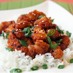 General Tso's Chicken. Tangy, spicy, and crispy, just like take-out! It's easier than you think... no deep-frying required!
