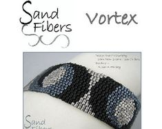 Hugs and Kisses is eligible for Sand Fibers 3-for- 2 Pattern Program.    Purchase any two Sand Fibers patterns and receive a third, of equal or lesser value, for free. Just specify your free pattern in the Notes to Seller during checkout. _____________________    The pattern in this listing is for my popular Hugs and Kisses cuff, which is created in odd-count single and 2-drop peyote using Miyuki Delica beads and Toho triangle beads. The pdf file includes    1. a large, detailed, numbered…