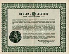 General Electric Food Freezer Warranty by vintagepostexchange