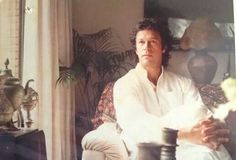 Former Pakistani cricketer & head of political party, Imran Khan