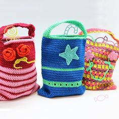 Free crochet pattern children bags - Free Crochet Patterns at Yarnplaza.com