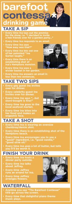 """Here Is The """"Barefoot Contessa"""" Drinking Game You Need"""