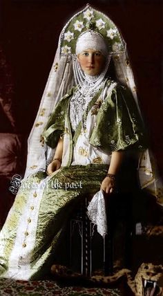 Grand Duchess Marie Georgievna of Greece and Denmark at the Winter Palace Costume Ball of 1903.