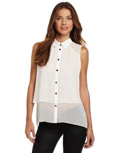 Kenneth Cole Women's Double Layer Shirt Kenneth Cole. $33.70. Machine Wash. Buttons down front. polyester. Sleeveless. Made in China