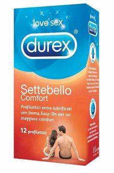 Settebello Confort Durex - Profilattici extra lubrificati con forma Easy-On per un maggiore confort.   http://www.vibello.it/durex-settebello-comfort-12-pezzi/p12658  #vibello #sexshop #condom #preservativi #profilattici