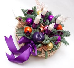 Purple is the new Christmas red Red Christmas, Christmas Time, Christmas Wreaths, Christmas Swags, Holiday Burlap Wreath, Christmas Garlands
