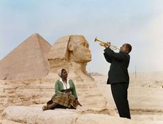 Louie Armstrong with Wife in Egypt