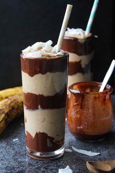 Chocolate Peanut Butter Banana Milkshakes