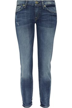7 for all mankind|Gwenevere cropped low-rise skinny jeans|NET-A-PORTER.COM