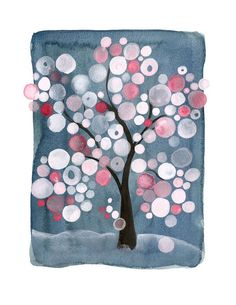 TREE OF LIFE Sakura Matsuri Blue Limited edition Print - Haiku The first cold shower Even the monkey seems to want A little coat of straw #EasyPin