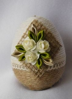 Jute Crafts, Egg Crafts, Easter Crafts, Decor Crafts, Diy And Crafts, Coconut Decoration, Egg Shell Art, Quilted Christmas Ornaments, Indian Crafts