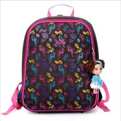 High quality Lovely children free Doll beautiful school bag girl students creative travel backpack kids cartoon Stationery bag #Affiliate