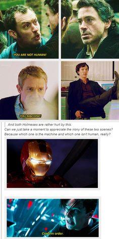 XD Sherlock, Iron Man and Star Trek in one pin!  (Jude Law, Roberd Downey Jr., Matin Freeman and Benedict Cumberbatch)