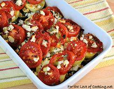 Tomato, Squash, & Feta Gratin