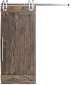 This original barn door predates even the Z style. The True is composed of tall vertical slats with top and bottom rails for support and balance. Simplicity at its finest for any space. Shown with our Barn Grey finish, Loft pull and Industrial Horseshoe hardware in a Brushed Steel finish. Available as a kit or prebuilt.   Designed & Crafted entirely in the USA.