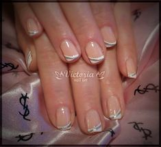 Silver Stripe Nail Art. Simple and Elegant!