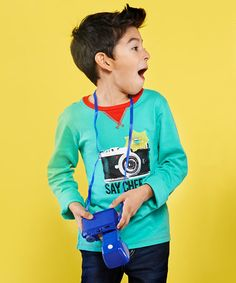 Love this Teal 'Say Cheese' Tee - Toddler & Boys on #zulily! #zulilyfinds