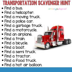 Transportation Scavenger Hunt