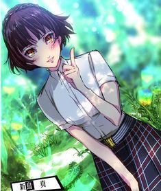 Persona 5 Makoto, Persona 5 Anime, Persona 5 Joker, Persona 4, Makoto Niijima, Ichigo Y Rukia, Anime Toon, Shin Megami Tensei Persona, Cute Anime Couples