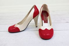 vintage spectator pumps // 1940's Style Red sold by RococoVintage