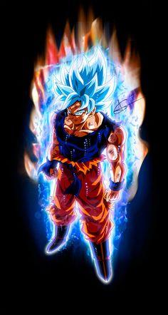 Goku Perfect Ultra Instinct SSJ Blue By ArlesonLui Loko Dbz Super