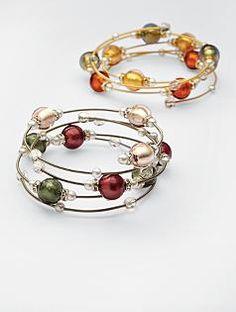 Murano glass beads bracelet ... love these