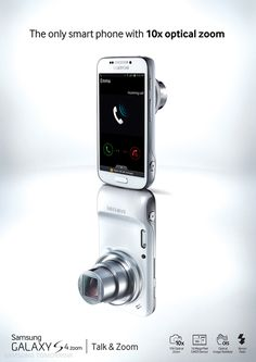 Samsung Unveils Galaxy S4 Zoom With 16MP Camera - Wow! A first real hybrid with Android.   The Galaxy S4 Zoom includes a 4.3-inch (s4 mini size), 960-by-540 display. It runs Android 4.2 Jelly Bean and a 1.5-GHz dual-core processor. Camera includes a 16-megapixel CMOS sensor, an optical image stabilizer, Xeon flash and 10x zoom.