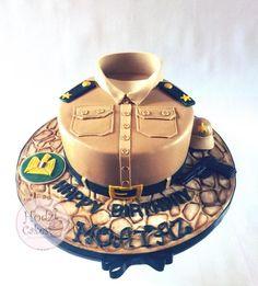 Egyptian Army First-Lieutenant Cake by Hend Taha-HODZI CAKES