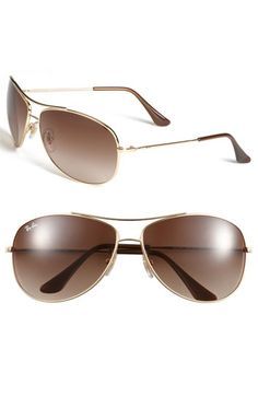 Ray-Ban 'Bubble Wrap' 63mm Aviator Sunglasses