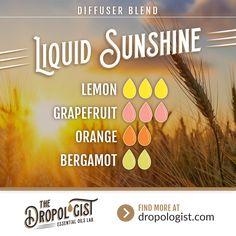 Diffuser Blend - Liquid Sunshine - Lemon Essential Oil