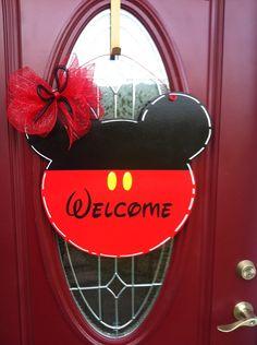 Mickey Mouse door hanger, Disney door hanger, Mickey , Mickey Mouse , santa face, santa head - pinned by pin4etsy.com