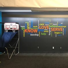 Word collage Know Love Serve Wall Decal Church Youth Room Christian School Wall Decal Vinyl decal wall sticker wordle Youth Room Church, Kids Church, Church Stage, Removable Vinyl Wall Decals, Vinyl Decals, Wall Vinyl, Wall Stickers, Wall Art, Youth Group Rooms
