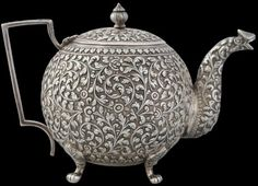 Silver Teapot, (1880)  Colonial India