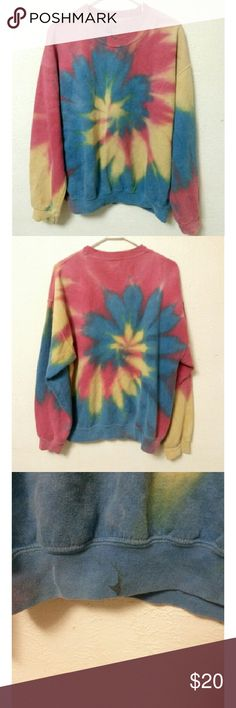 Tie Dye Sweatshirt Men's tie dye sweatshirt. There is a stain on the bottom on the front. All prices are negotiable. JEM Shirts Sweatshirts & Hoodies