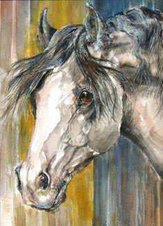 Best Artwork Contest - Voting Ends / Prizes Awarded:Sunday, January 2015 - AM ET - Fine Art America Horse Artwork, Cool Artwork, Horse Paintings, Art Pictures, Art Images, Watercolor Paintings, Watercolors, Horse Illustration, Equine Art