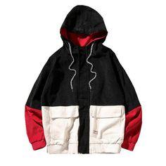 2018 Autumn Color Block Patchwork Corduroy Hooded Jackets Men Hip Hop Hoodies Coats Male Casual Streetwear Outerwear Sweatshirts